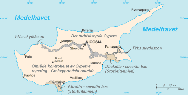Karta Europa Turkiet.Kartor Over Cypern Om Cypern
